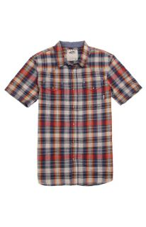 Mens Vans Shirts   Vans Edgeware Short Sleeve Woven Shirt