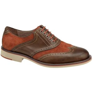 Johnston & Murphy Mens Ellington Wing Tip Brown Rust Shoes, Size 8.5 M   20 4378