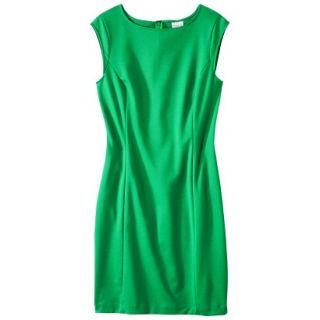 Merona Petites Sleeveless Ponte Sheath Dress   Green SP
