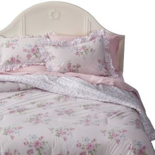 Simply Shabby Chic Misty Rose Comforter Set   Pink (Full/ Queen)