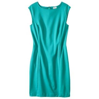 Merona Womens Ponte Sheath Dress   Coastal Green   XS