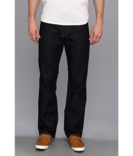 Mavi Jeans Matt Mid Rise Relaxed Straight Leg in Rinse Yaletown Mens Jeans (Black)
