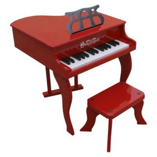 Schoenhut Fancy Baby Grand Piano   White/Red