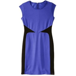 Mossimo Womens Colorblock Scuba Dress   Blue S