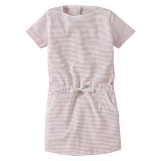Burts Bees Baby Infant Girls Stripe Boatneck Dress   Blush/Cloud 0 3 M