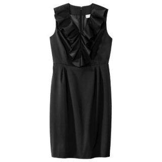 Merona Petites Sleeveless Sheath Dress   Black 12P