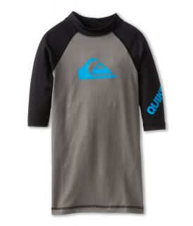 Quiksilver Kids All Time S/S Surf Shirt Boys Swimwear (Gray)