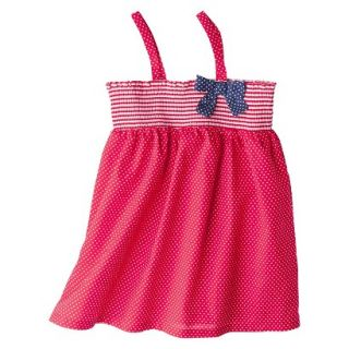 Circo Infant Toddler Girls Polka Dot Swim Cover Up Dress   Red 4T