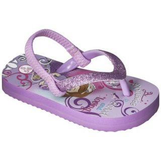 Toddler Girls Sofia The First Flip Flop Sandals   Purple XL