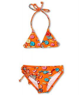 Roxy Kids Rustic Roamer Braided Tiki Tri Set Girls Swimwear Sets (Orange)