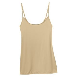 JKY By Jockey Womens Nylon Stretch Cami   Toasted Beige S