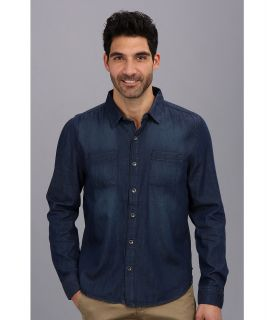 Seven7 Jeans Button Denim Shirt Mens Long Sleeve Button Up (Navy)