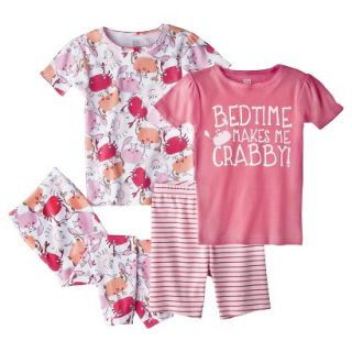 Just One You Made by Carters Infant Toddler Girls 4 Piece Short Sleeve Crab