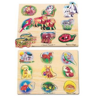 Melissa & Doug Pets and Zoo Animals Sound Puzzles