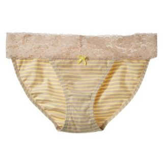 Xhilaration Juniors Wide Lace Cotton Bikini   Dandelion Yellow XS
