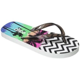 Girls Circo Hester Flip Flop Sandals   Black/White S