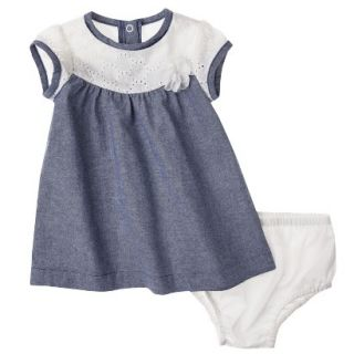 Genuine Kids from OshKosh Newborn Girls 2 Piece Dress Set   Blue 0 3 M