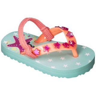 Toddler Girls Circo Diana Flip Flop Sandals   Turquoise S