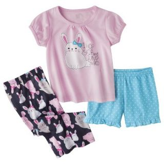 Just One You Made by Carters Infant Toddler Girls 3 Piece Bunny Pajama Set