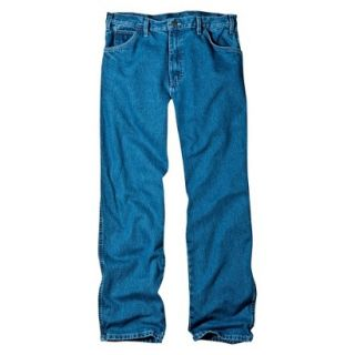 Dickies Mens Relaxed Fit Jean   Stone Washed Blue 30x32