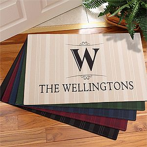 Personalized Family Monogram Doormats