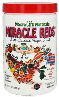 MacroLife Naturals   Miracle Reds Antioxidant Super Food   10 oz. formerly Miracle Greens