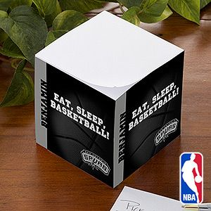 Personalized NBA Basketball Note Pad Cube