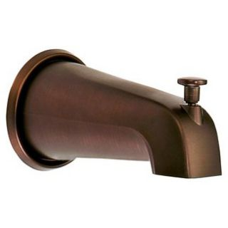 Danze 8 Wall Mount Tub Spout with Diverter   Tumbled Bronze