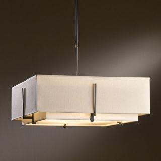 Exos Square Large Double Shade Pendant Light