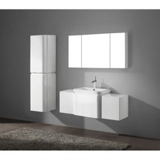 Madeli Euro 48 Bathroom Vanity with Integrated Basin   Glossy White