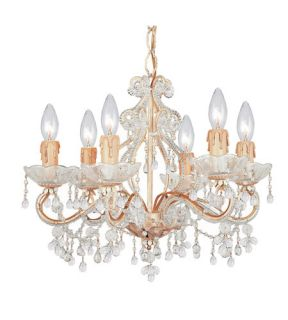 Paris Flea Market 6 Light Mini Chandeliers in Champagne 4507 CM CLEAR