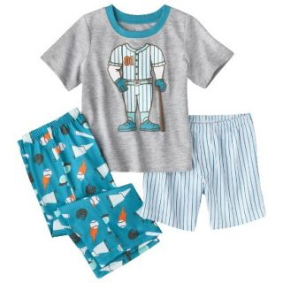 Just One You Made by Carters Infant Toddler Boys 3 Piece Baseball Pajama Set