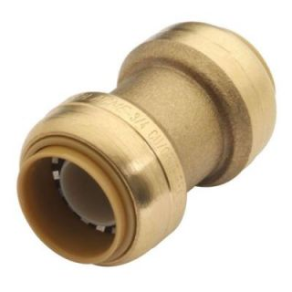 SharkBite 3/4 in. Brass Push Fit Straight Coupling U016LFA