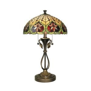 Dale Tiffany 26.75 in. Leilani Antique Brass Table Lamp TT60024
