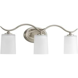 Progress Lighting Inspire Collection Brushed Nickel 3 Light Vanity Fixture P2020 09