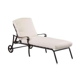 Hampton Bay Edington Patio Chaise Lounge with Bare Cushion 141012CLCBKD NF