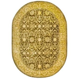 Safavieh Silk Road Brown and Ivory 4 ft. 6 in. x 6 ft. 6 in. Oval Area Rug SKR213F 5OV