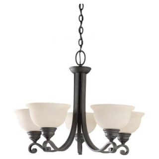 Sea Gull Lighting Serenity 5 Light Weathered Iron Single Tier Chandelier 31191 07