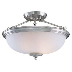 Hampton Bay 2 Light Brushed Nickel Semi Flushmount CBX8212 2/SC 1