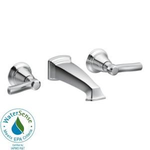 MOEN Rothbury Two Handle Wall Mount Bathroom Faucet in Chrome TS6204