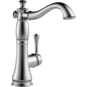 Delta Cassidy Single Handle Bar Faucet in Arctic Stainless 1997LF AR
