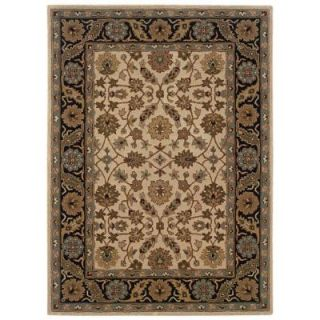 Linon Home Decor Trio Ivory and Black 8 ft. x 10 ft. Area Rug RUG TT0781
