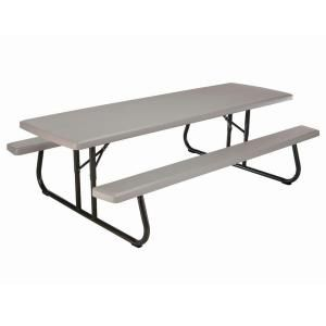 Lifetime 57 in. x 96 in. Commercial Grade Picnic Table 80123