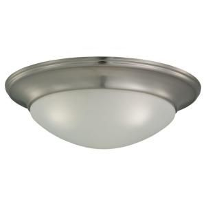 Sea Gull Lighting Nash 3 Light Brushed Nickel Flush Mount Fixture 75436 962