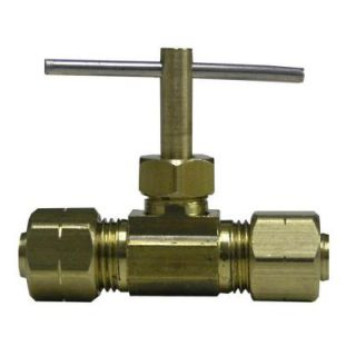 Watts 3/8 in. Lead Free Brass Compression Straight Needle Valve LF A140