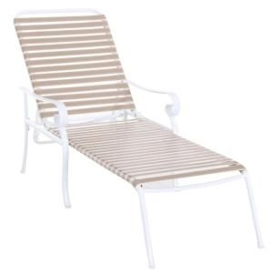 Hampton Bay Summerville Patio Chaise Lounge in Taupe DISCONTINUED FLS67040K Taupe