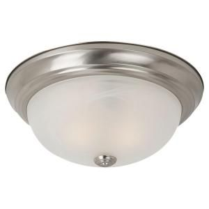 Sea Gull Lighting Windgate 1 Light Brushed Nickel Flush Mount Fixture 75940 962
