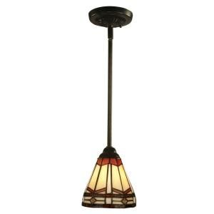Dale Tiffany Jewel Mission 1 Light Hanging Antique Bronze Mini Pendant Lamp STH11011