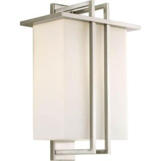 Progress Lighting Dibs Collection Wall Mount Outdoor Brushed Nickel Lantern P5992 09