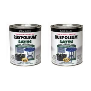 Rust Oleum Stops Rust 32 oz. Satin Black Protective Enamel (2 Pack) DISCONTINUED 182671